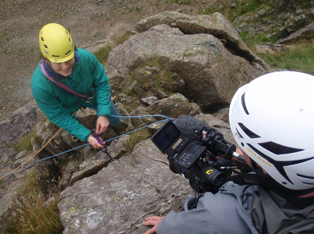 Filming on Dow Crag