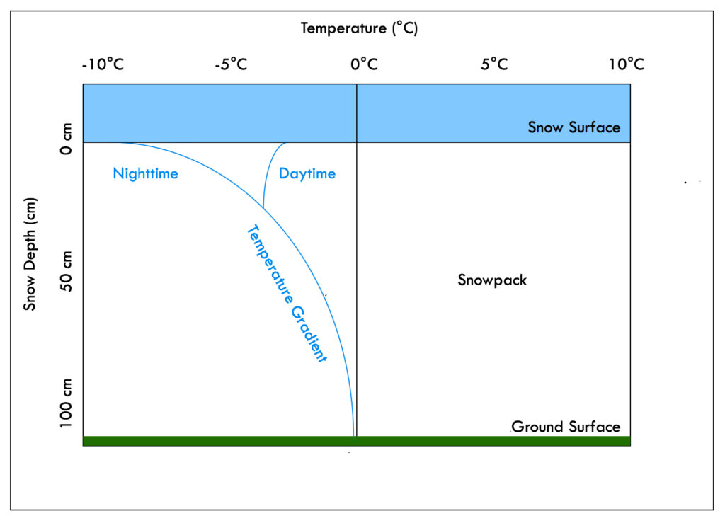 Snow Metamorphism - Temperature Gradient