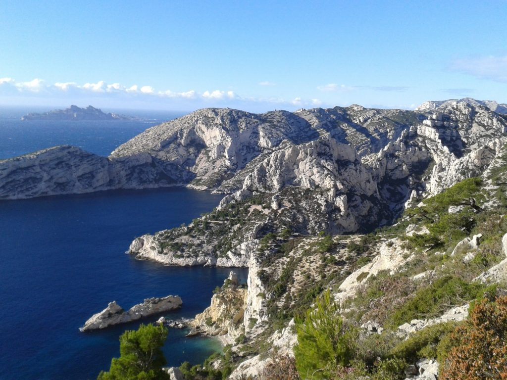 The beautiful white cliffs of Les Calanques