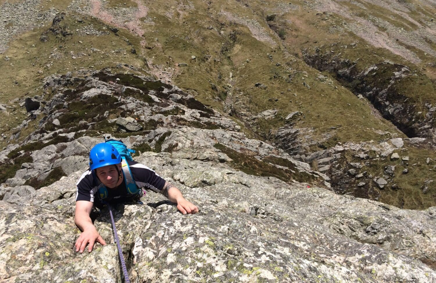 Rock Climbing on Gimmer Crag in the Lake District