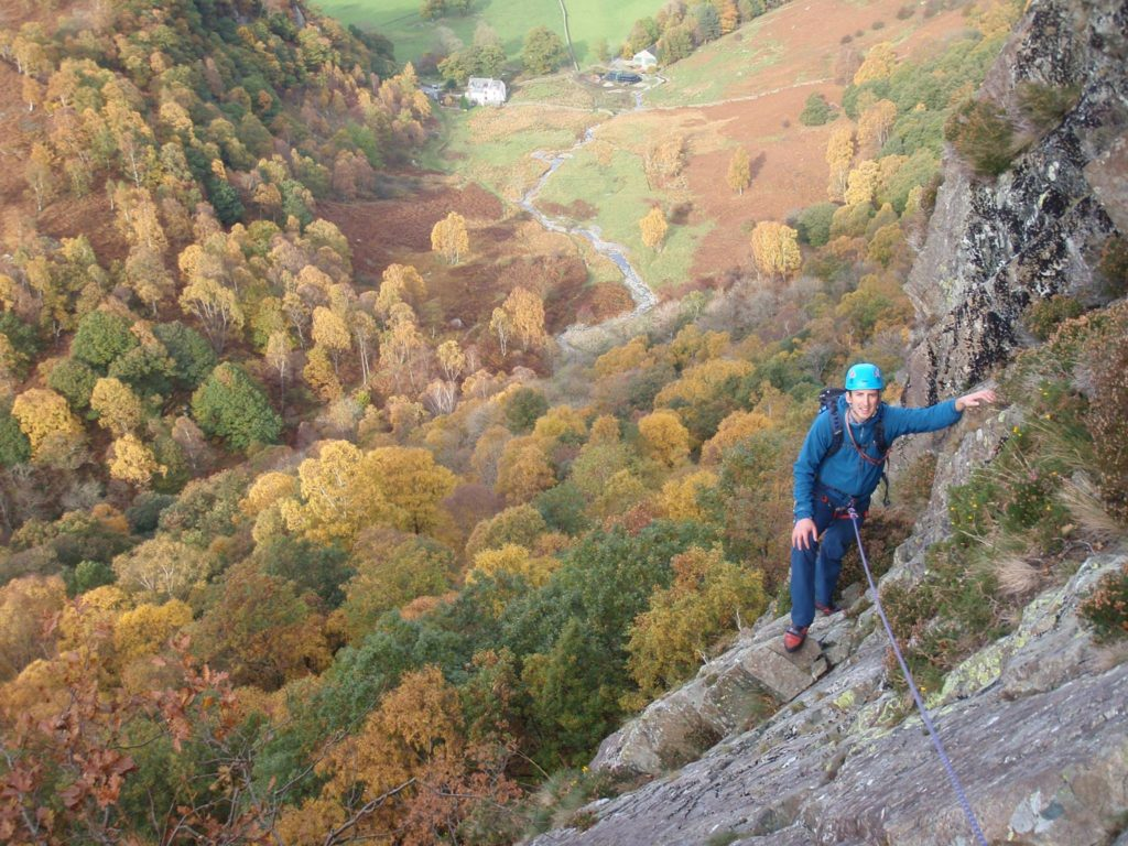 Climbing Troutdale Pinnacle in the Autumn