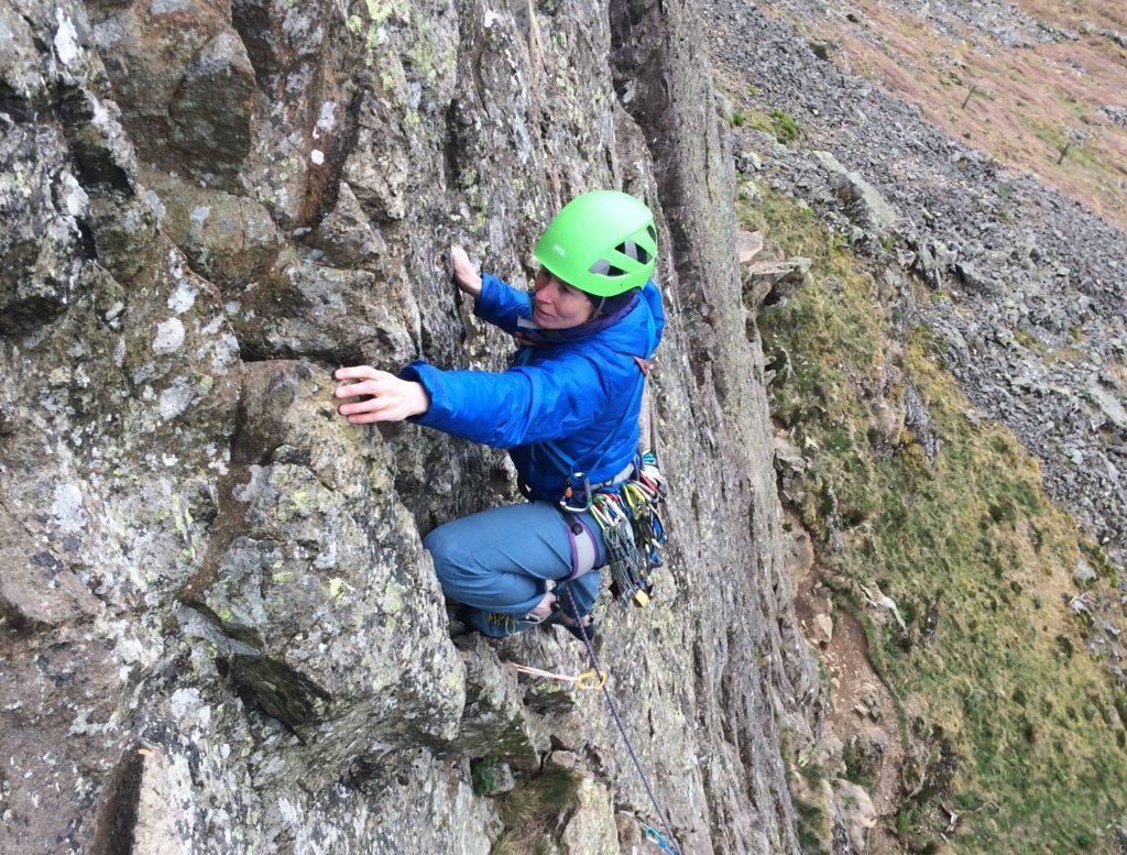 Climbing Via Media on Castle Rock