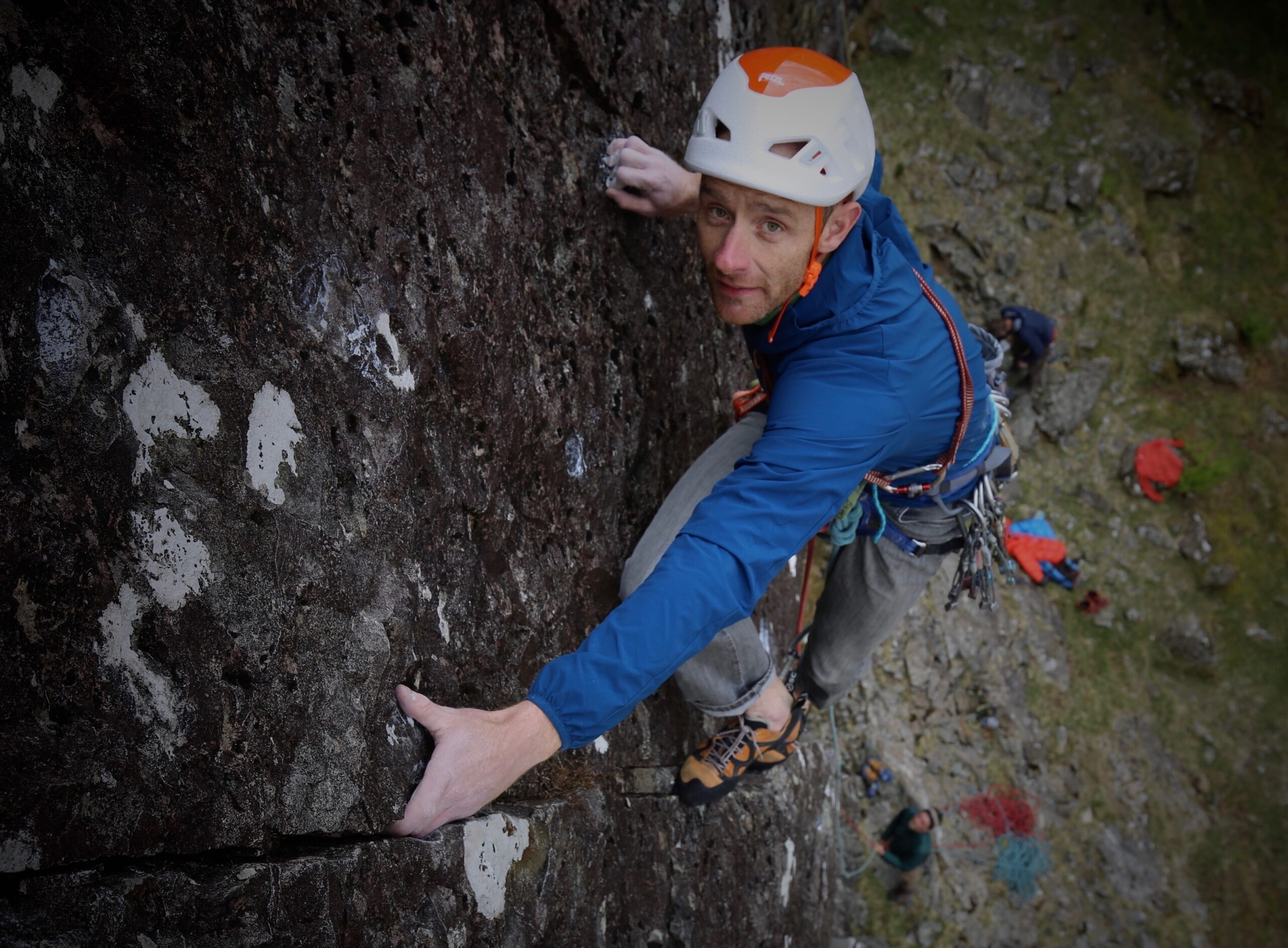 Climbing White Noise at Reecastle
